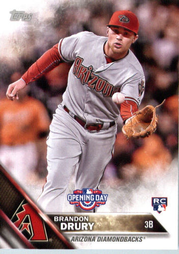 Photo of 2016 Topps Opening Day #OD132 Brandon Drury Rookie Card