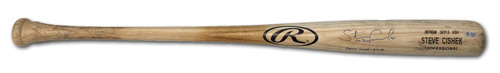 Photo of Steve Cishek Team-Issued and Autographed Bat -- 2018 Season -- Inscribed 'Game used 2018'
