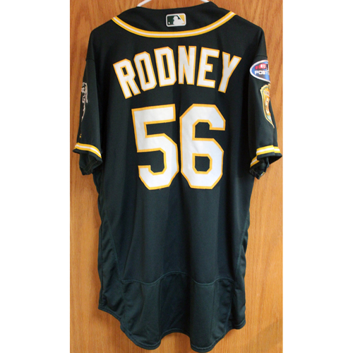 Photo of Game-Used Jersey: Fernando Rodney AL Wild Card Game 10/3/18