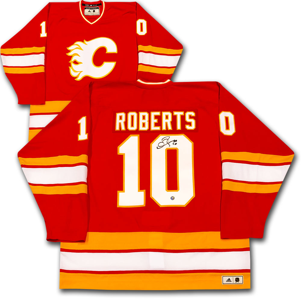 Gary Roberts Autographed Calgary Flames adidas Team Classics Authentic Vintage Jersey