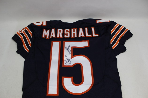 NFL Auction | BRANDON MARSHALL SIGNED AUTHENTIC BEARS JERSEY - SIZE 38