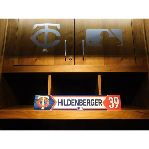 Photo of 2018 Trevor Hildenberger Game-Used Locker Name Plate