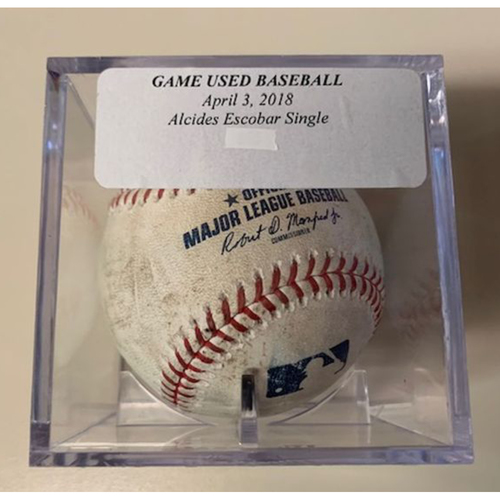 Photo of Game-Used Baseball: Alcides Escobar Single