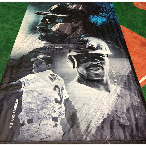 Photo of Tampa Bay Rays Banner: Wade Boggs, Rolando Arrojo and Fred McGriff - Local Pick-Up Only