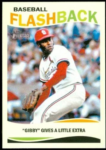 Photo of 2013 Topps Heritage Baseball Flashbacks #BG Bob Gibson