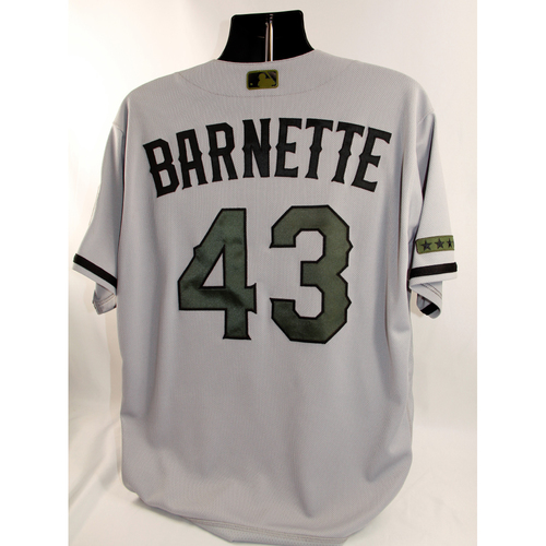 Photo of Game-Used Jersey - Tony Barnette - 5/27/17