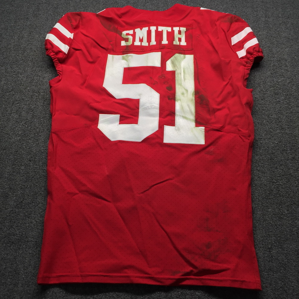 NFL Auction | Crucial Catch - 49ers Malcolm Smith Game Used Jersey ...