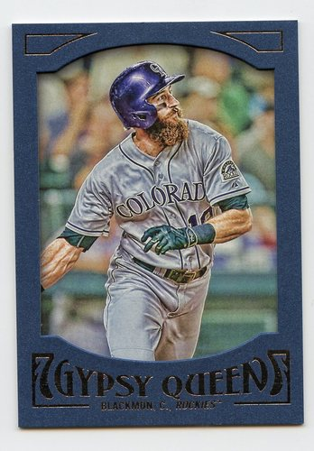 Photo of 2016 Topps Gypsy Queen Framed Blue #24 Charlie Blackmon