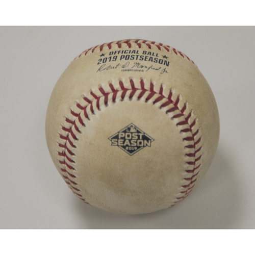 Photo of AL Wild Card Game - Game-Used Baseball: Pitcher: Jesus Luzardo, Batter: Yandy Diaz, Single (Top 7) - 10/2/19 vs. TB
