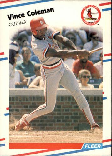 Photo of 1988 Fleer #27 Vince Coleman