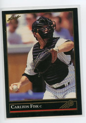 Photo of 1992 Leaf Black Gold #303 Carlton Fisk