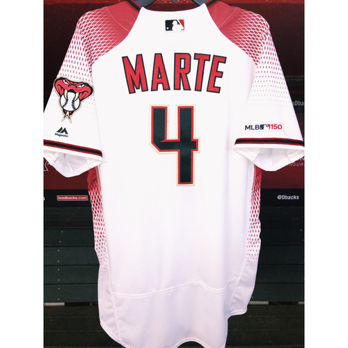 All-Star Ketel Marte 2019 Team-Issued White/Red Home Jersey, size 44