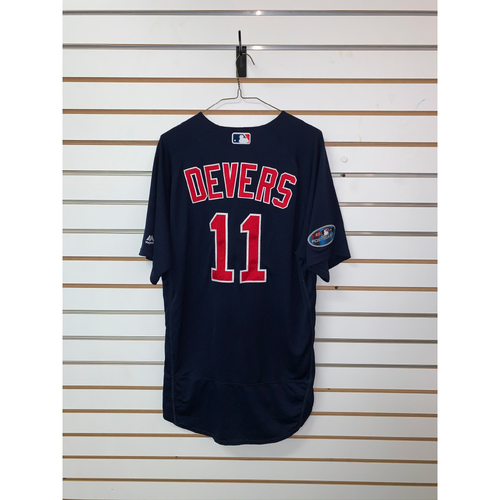 Photo of Rafael Devers Game Used September 21, 2018 Road Alternate Jersey