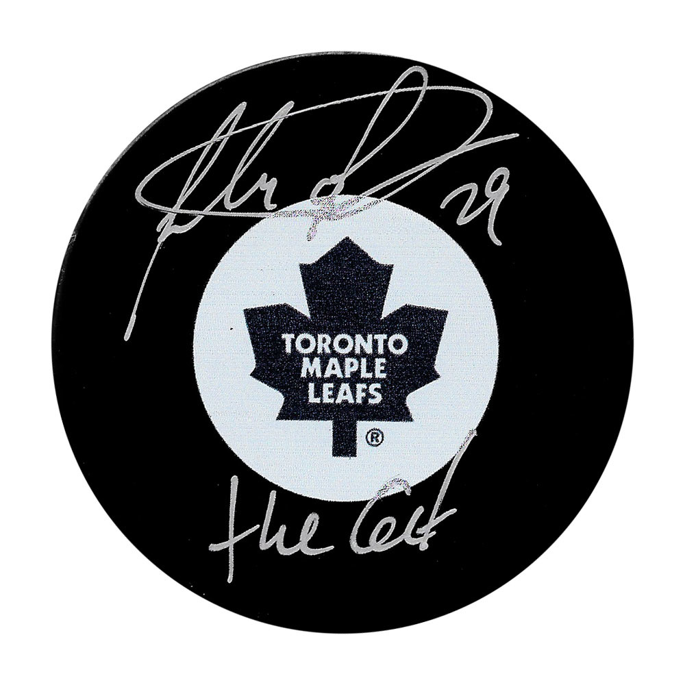 Felix Potvin Autographed Toronto Maple Leafs Puck w/THE CAT Inscription