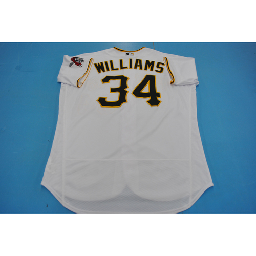 Photo of Game-Used Jersey - MIL at PIT - 7/27/2020 - Trevor Williams Home Jersey