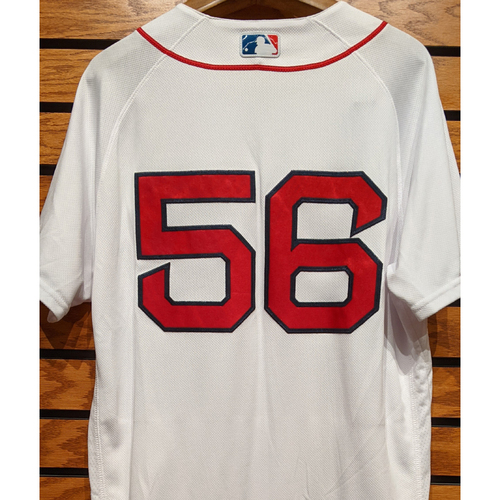 Photo of Joe Kelly #56 Team Issued Home White Jersey