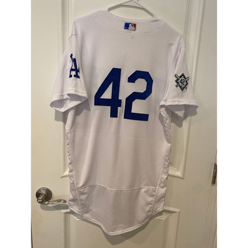 Photo of Mookie Betts Game-Used Jackie Robinson Day Jersey - Size 42T
