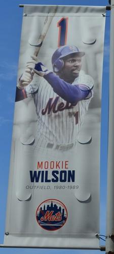 Photo of Mookie Wilson #1 - Citi Field Banner - 2019 Season