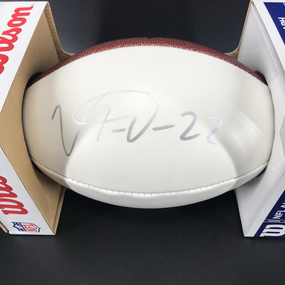 Bills - Vonte Davis Signed Panel Ball