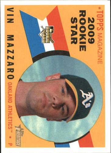 Photo of 2009 Topps Heritage #657 Vin Mazzaro RC