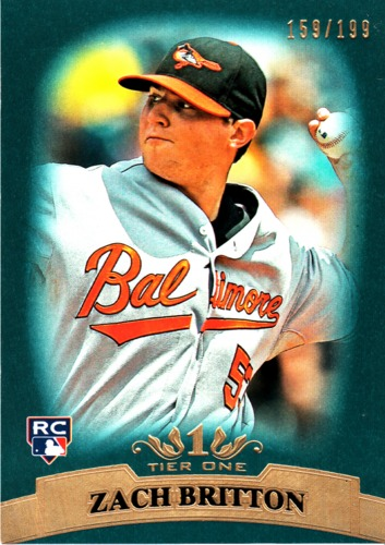 Photo of 2011 Topps Tier One Blue #53 Zach Britton