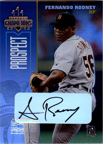 Photo of 2003 Donruss Champions Autographs #98 Fernando Rodney/500