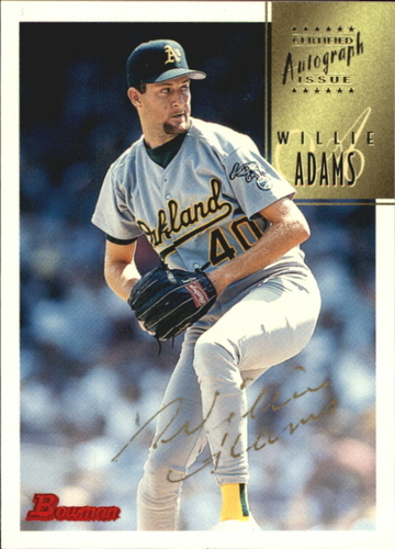 Photo of 1997 Bowman Certified Gold Ink Autographs #CA3 Willie Adams