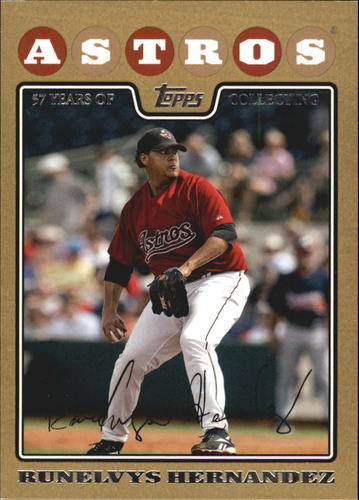 Photo of 2008 Topps Update Gold Border #UH181 Runelvys Hernandez