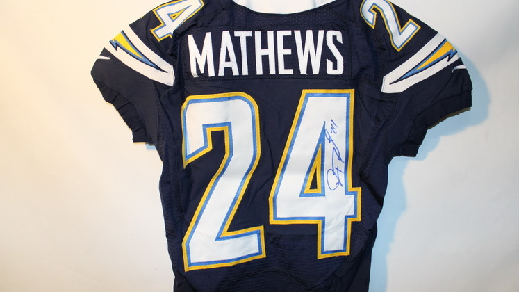 NFL Auction | CHARGERS - RYAN MATHEWS SIGNED AUTHENTIC CHARGERS ...