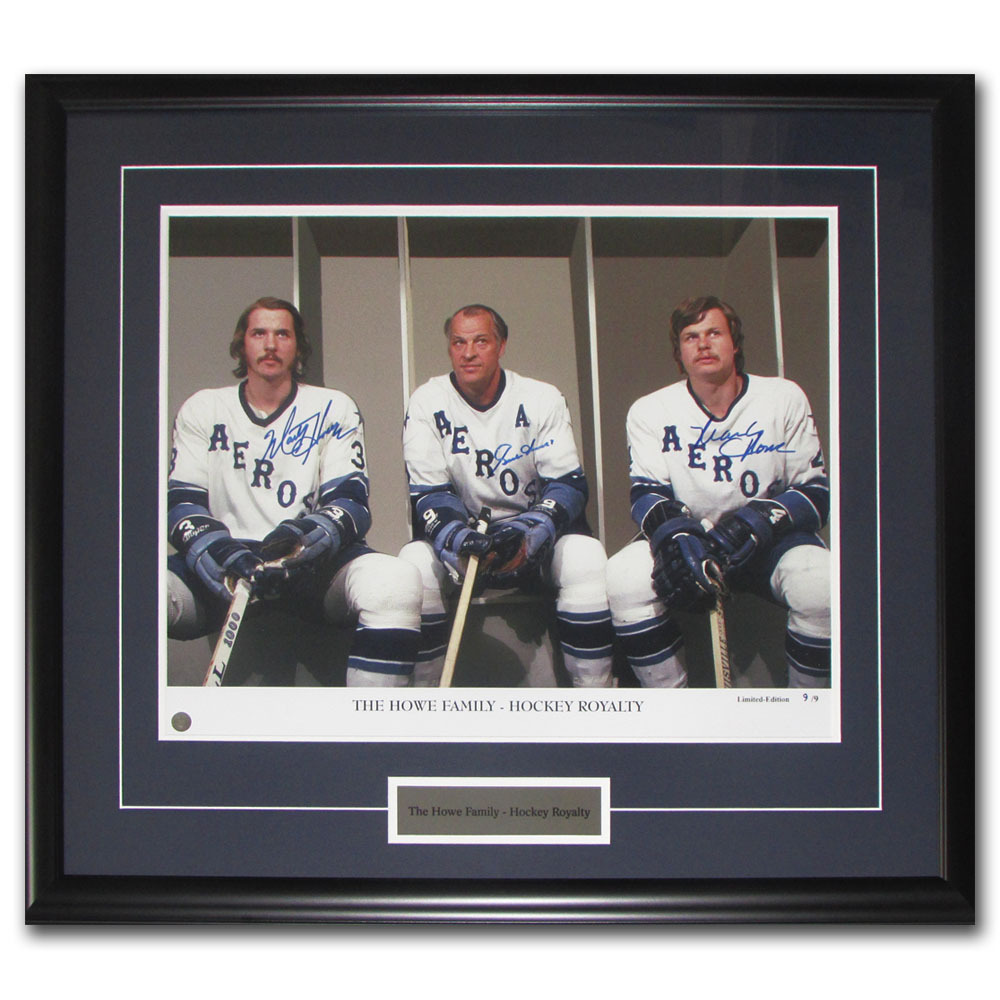 Howe Family Framed Autographed Limited-Edition 16X20 Photo - #9/9