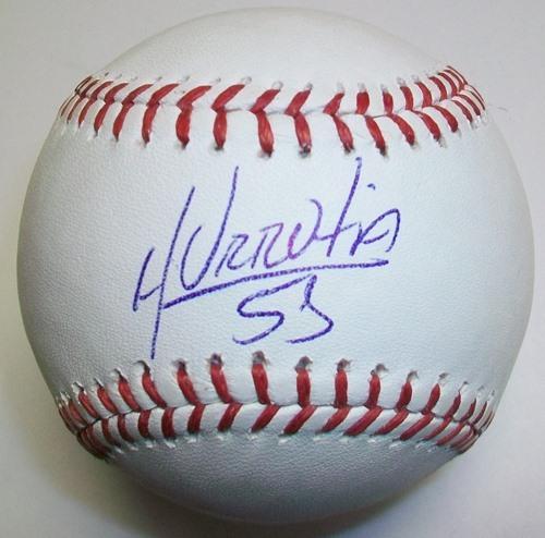 Henry Urrutia Autographed Baseball