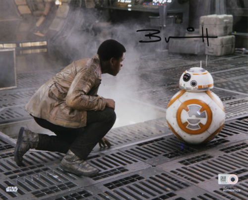 Brian Herring as BB-8 Autographed in Black Ink 8x10 Photo