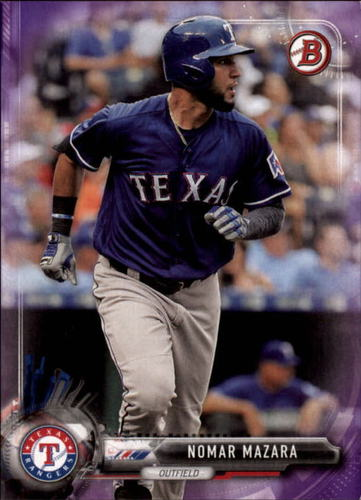 Photo of 2017 Bowman Purple #30 Nomar Mazara 167/250