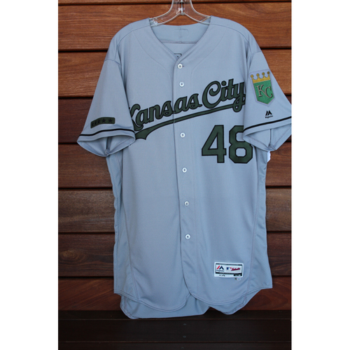 Game-Used Joakim Soria Memorial Day Road Jersey (Size 46 - KC at CLE - 5/28/17)
