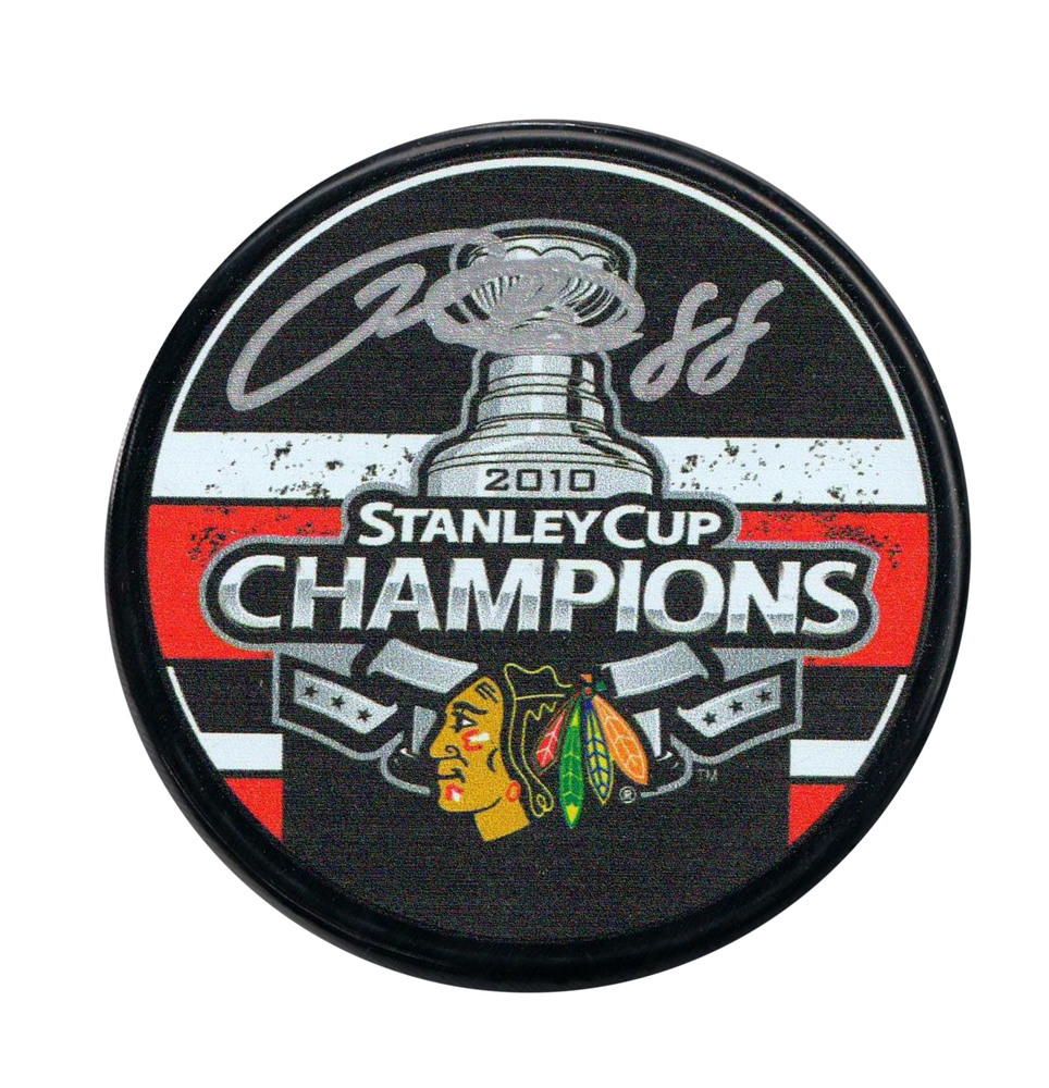 Patrick Kane - Signed Puck Chicago Blackhawks 2010 Stanley Cup Champions