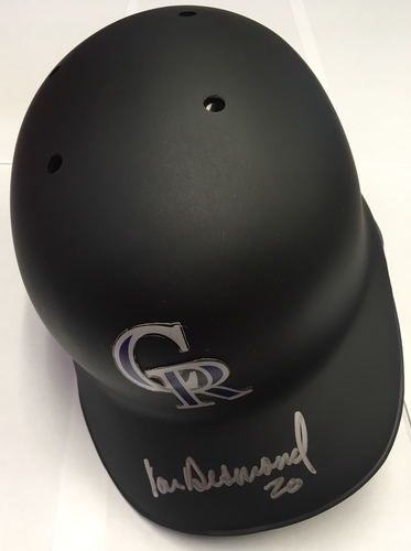 Photo of Ian Desmond Autographed Rockies Batting Helmet