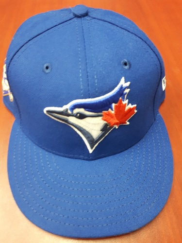 Photo of CHARITY AUCTION: Authenticated Game Used #42 Cap - Aaron Sanchez (May 3, 2018). Size 7 1/4