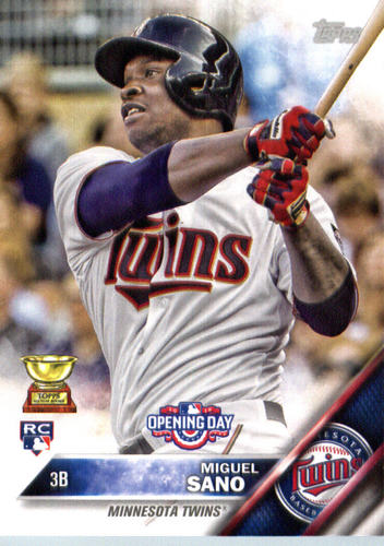 Photo of 2016 Topps Opening Day #OD52A Miguel Sano Rookie Card