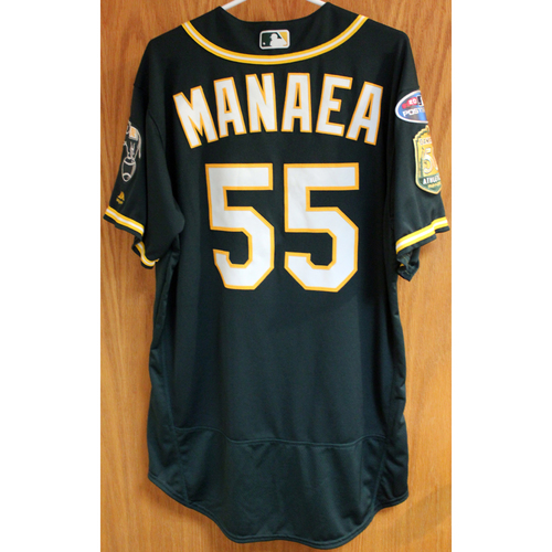 Photo of Team Issued Jersey: Sean Manaea AL Wild Card Game 10/3/18
