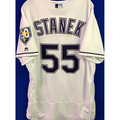 Photo of 20th Anniversary Game Used Devil Rays Jersey: Ryne Stanek - June 9 v SEA, June 23 v NYY and September 8 v BAL