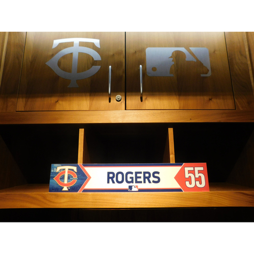 Photo of 2018 Taylor Rogers Game-Used Locker Name Plate