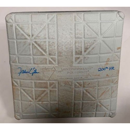 Photo of Autographed Game-Used Base: Justin Upton 200th Home Run Game