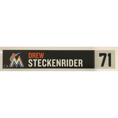 Photo of Game Used Locker Tag: Drew Steckenrider