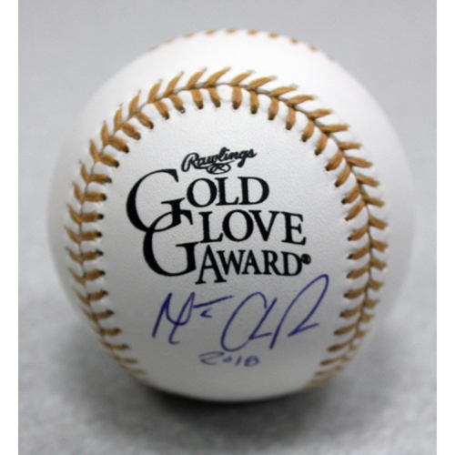 Photo of Matt Chapman Autographed Rawlings Gold Glove Baseball