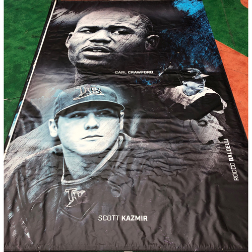 Photo of Tampa Bay Rays Banner: Carl Crawford, Rocco Baldelli and Scott Kazmir - Local Pick-Up Only