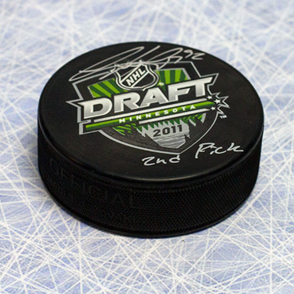 Gabriel Landeskog 2011 NHL Draft Puck Autographed with 2nd Pick Inscription *Colorado Avalanche*