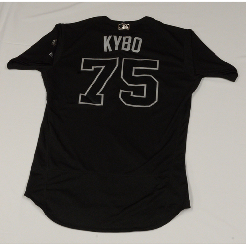 "Photo of Kyle ""KYBO"" Cunningham Colorado Rockies Game-Used 2019 Players' Weekend Jersey"