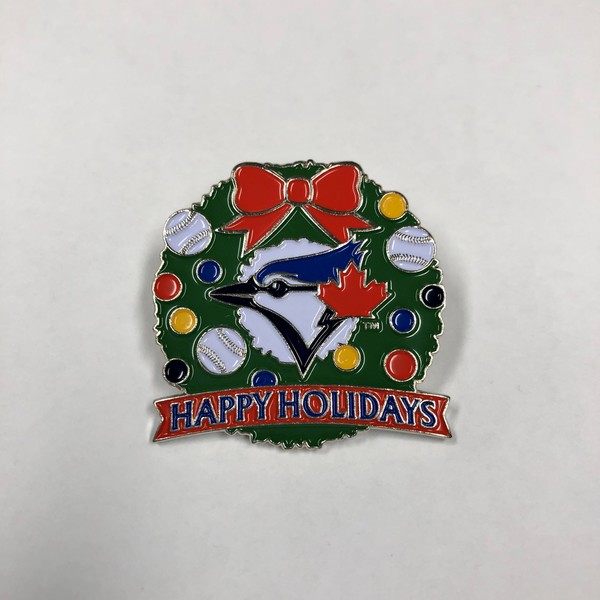 Toronto Blue Jays Happy Holidays Pin by PSG