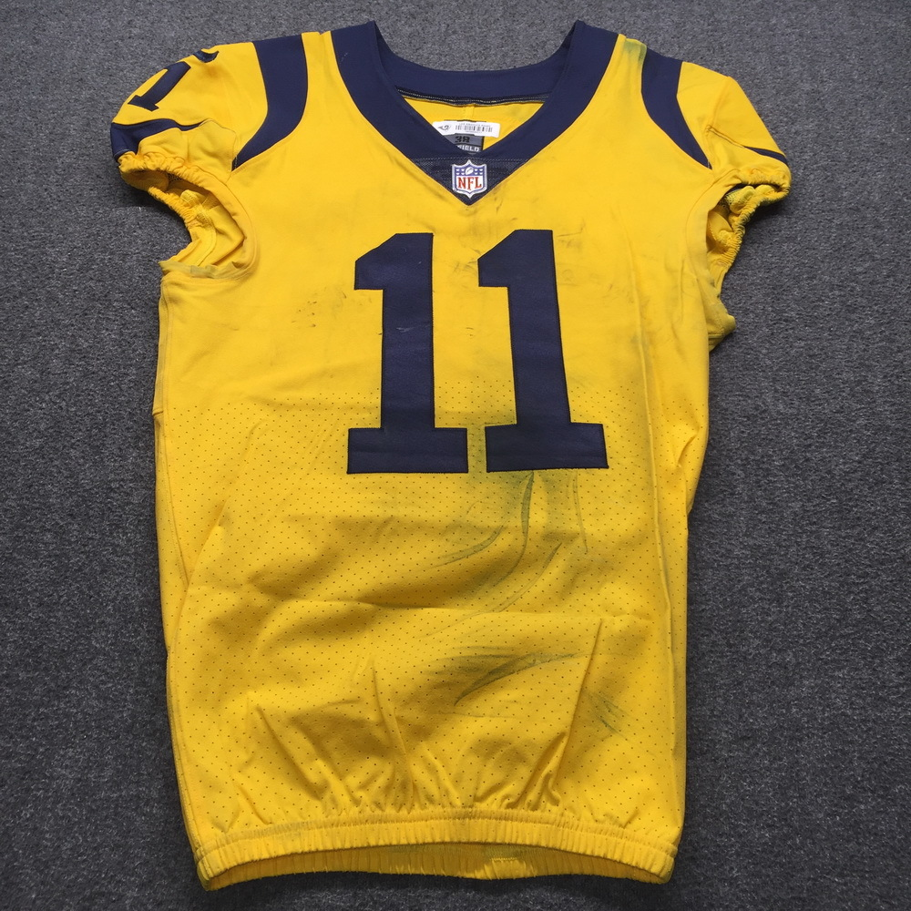 STS - Rams Khadarel Hodge Historic Monday Night Game Used Jersey Size 38 (11/19/18)