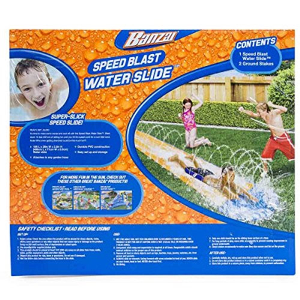 """Photo of Banzai New and Improved Speed Blast Water Slide - 192"""" Long"""